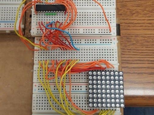 Max7219 And 8x8 Led Matrix On Breadboard Arduino Project Hub