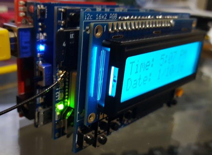 Arduino GPS LCD Clock - Arduino Project Hub
