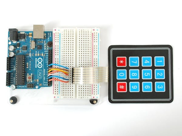 Matrix keypad with segment display hackster