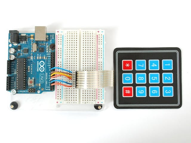 Matrix Keypad With 7 Segment Display