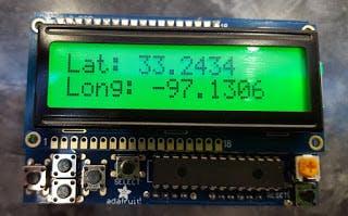Arduino GPS LCD Clock