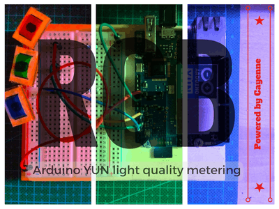 Arduino + Cayenne = Light Quality Monitoring