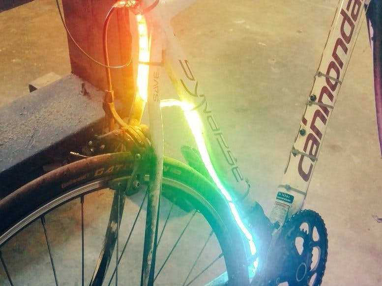 Bicycle Frame Lighting