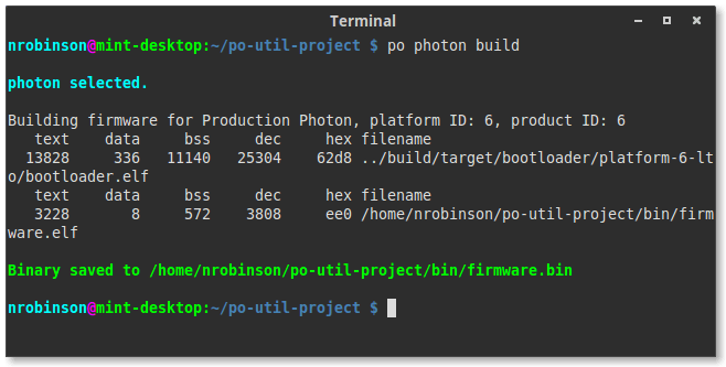 Po-util makes it easy to build your Particle firmware locally.