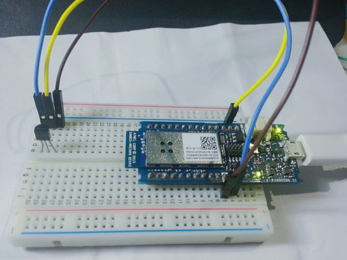 Temperature monitoring with arduino mkr and artik