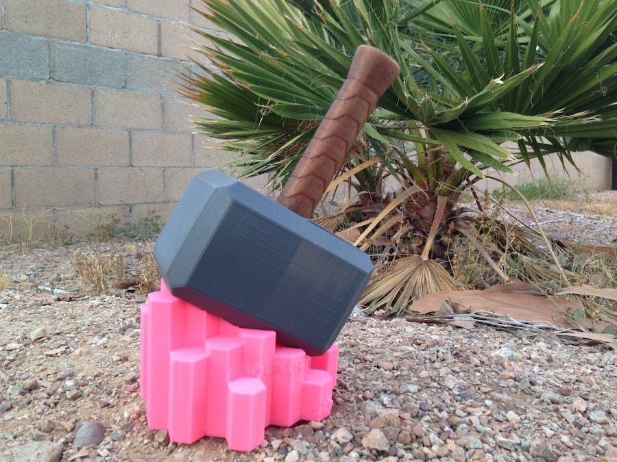 Light-Up Mjölnir: Dragon Mountain Design