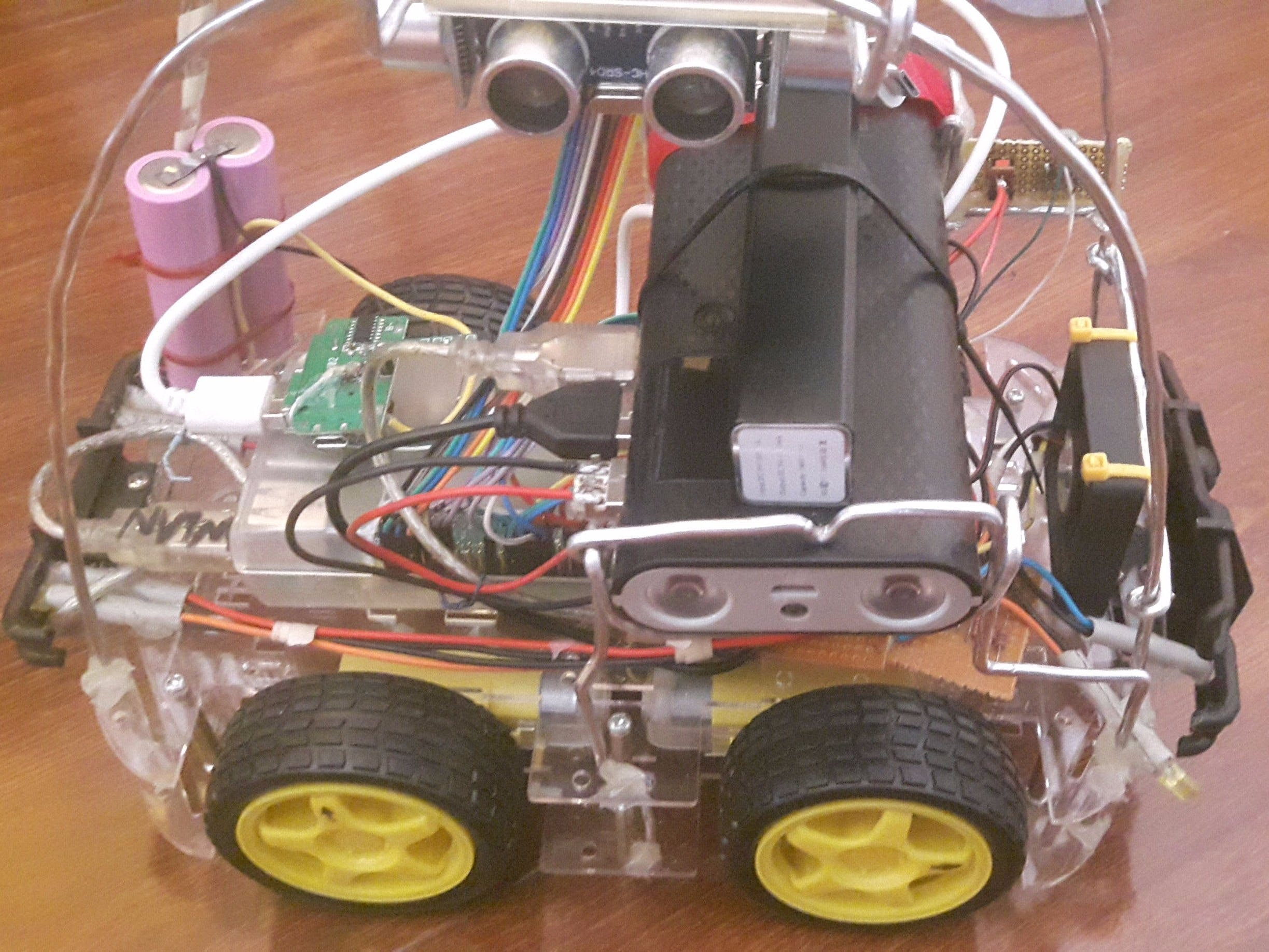 RaspberryPi CAR with Routing algo and Cartesian Positioning