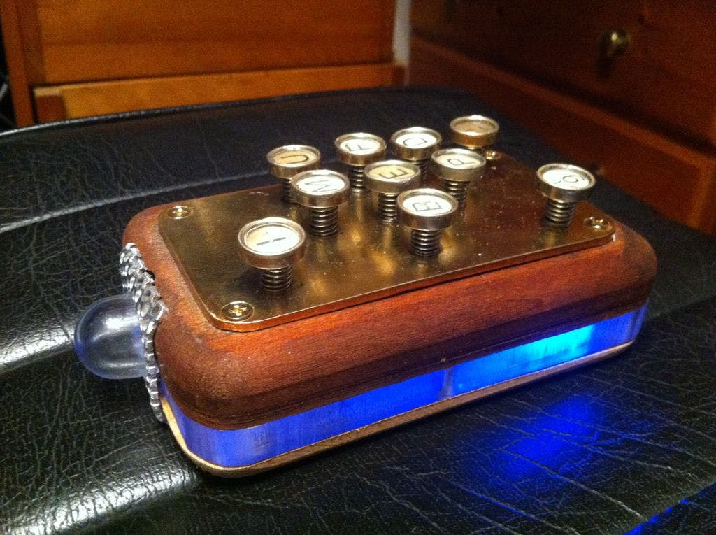 Steampunk Retro Remote Control (aka 'The Brick')