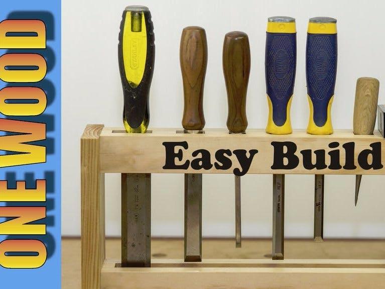Make a DIY Chisel Rack