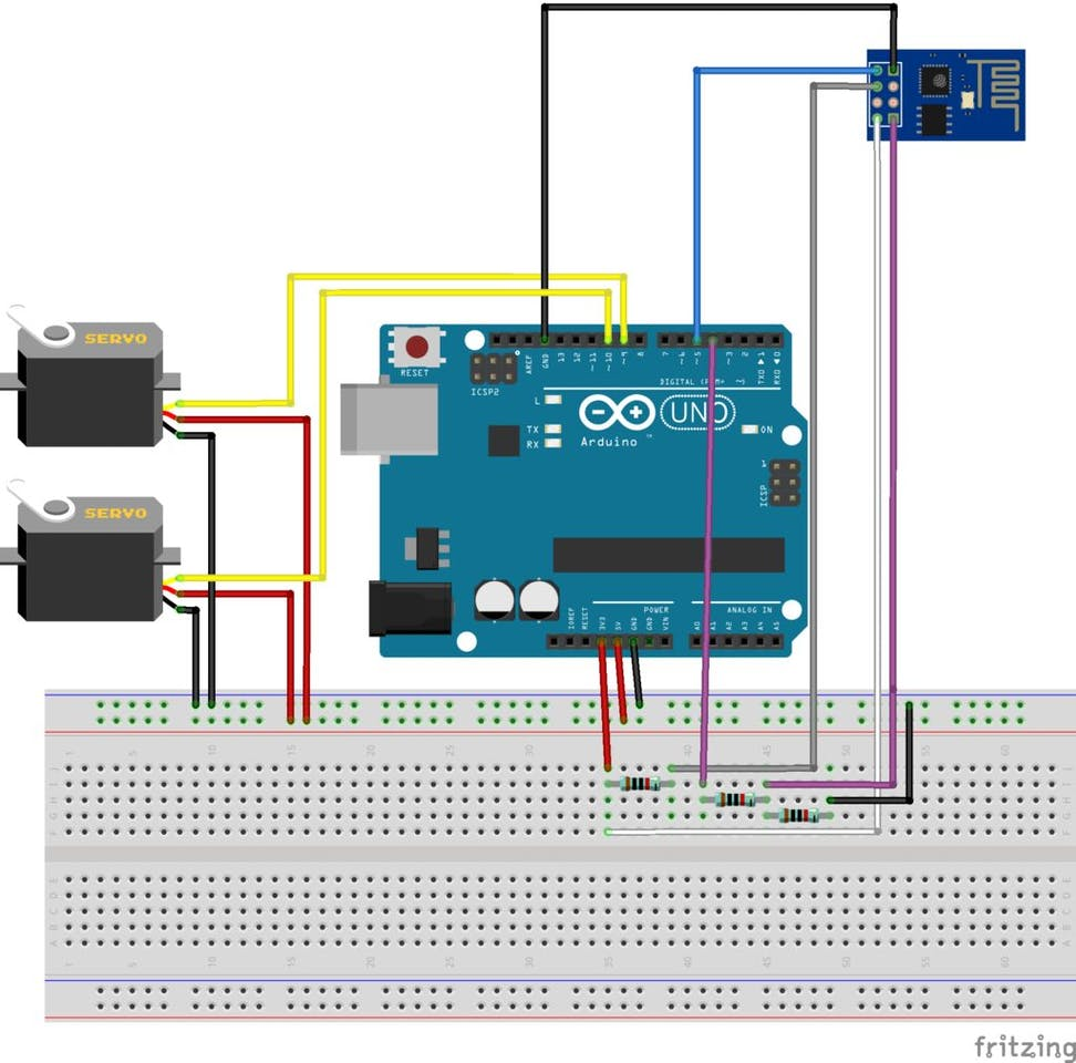 Wi Servo Fi Browser Controlled Servomotors Arduino Wiring Diagram
