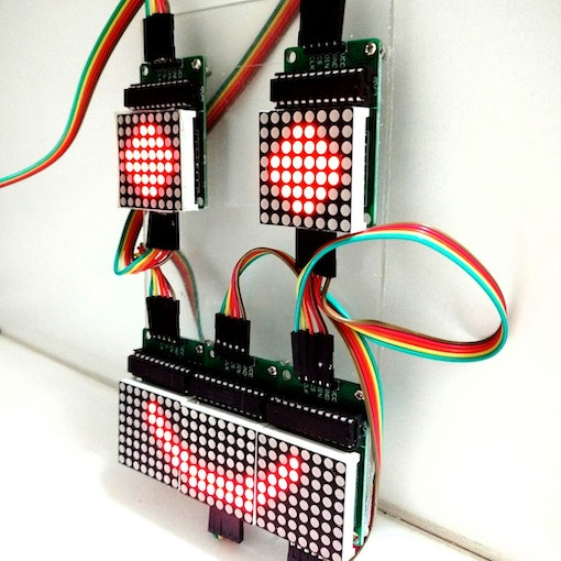 Controlling led matrix array with arduino uno linksprite