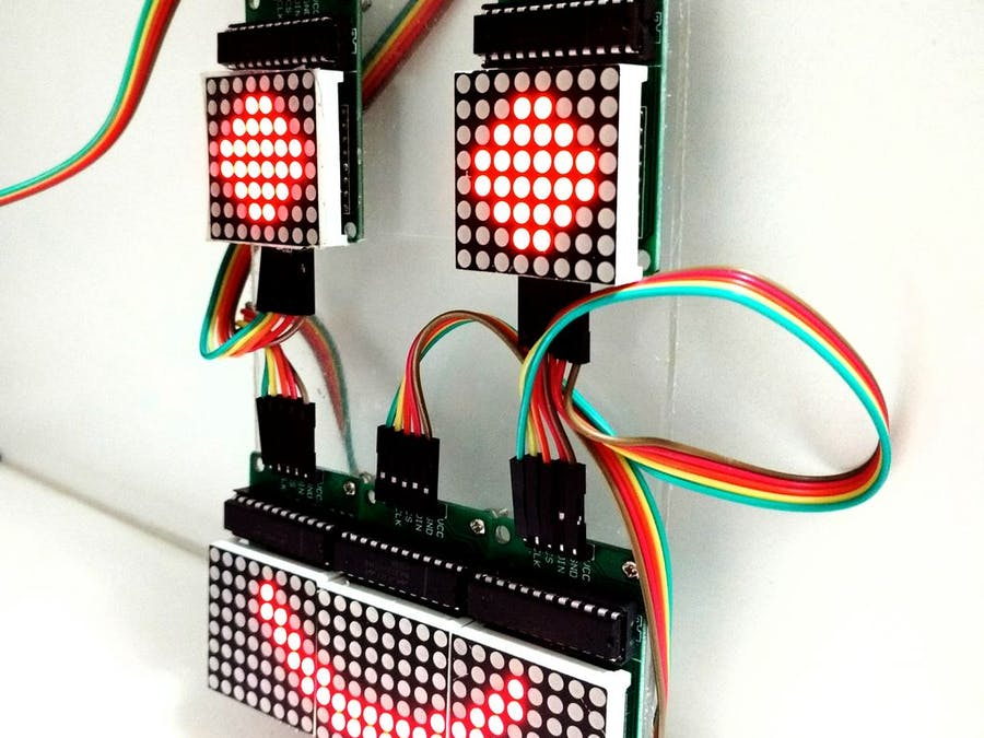 Controlling An Led Matrix With Arduino Uno Arduino Project Hub