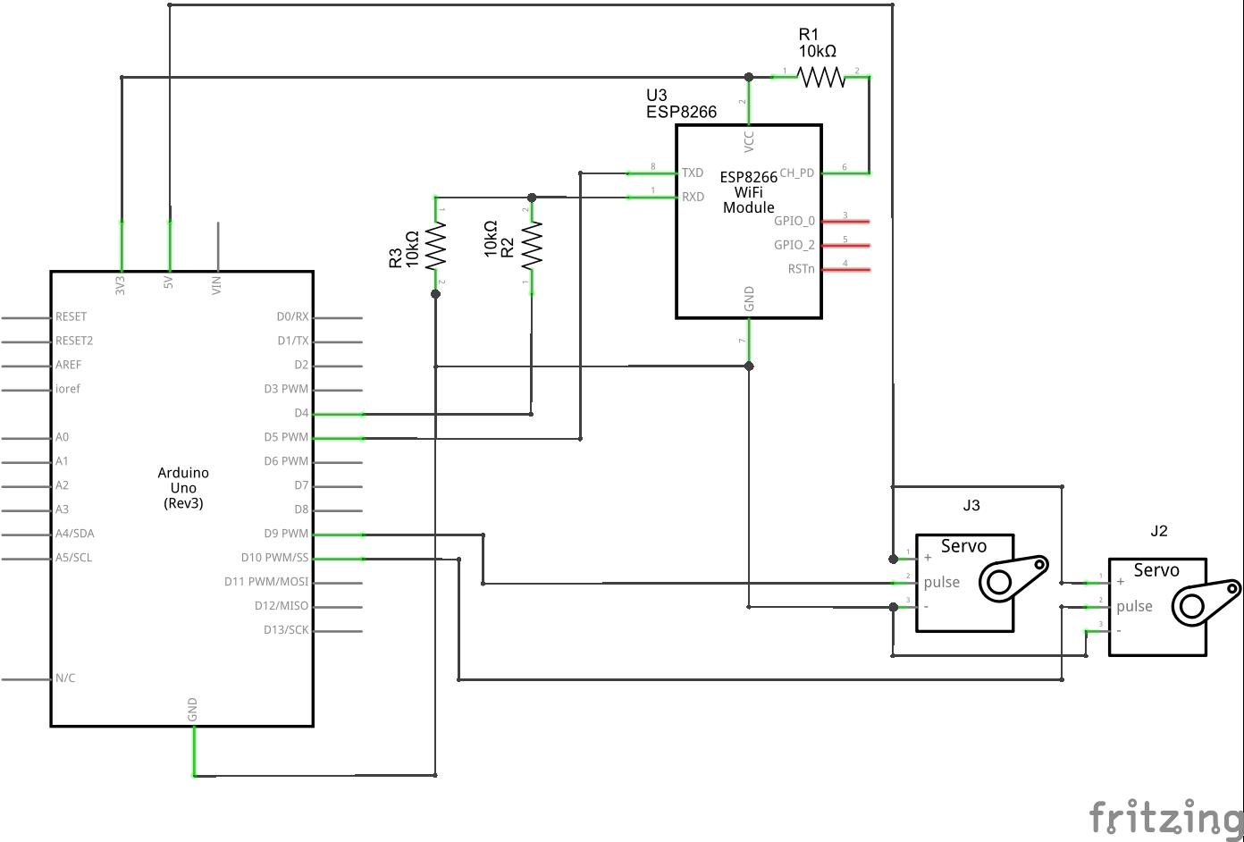 Wi Servo Fi Browser Controlled Servomotors Drive Motor Wiring Diagram Schematic