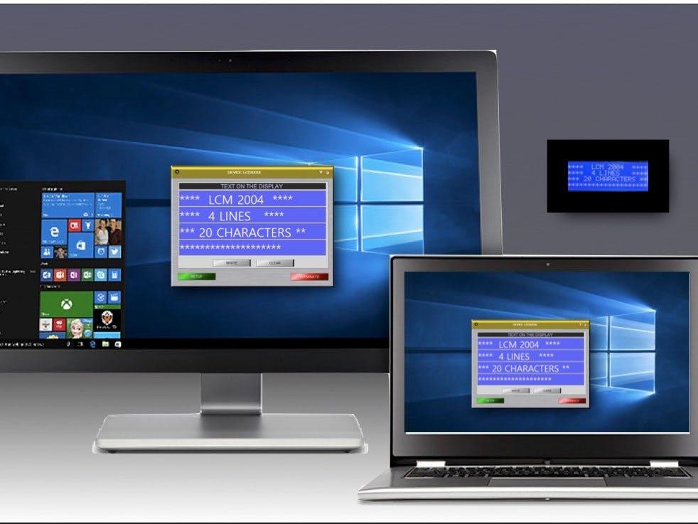 Virtual and Real LCD display