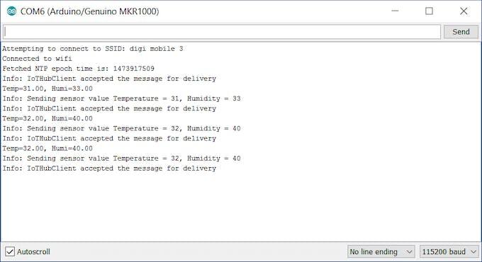 Serial Monitor log