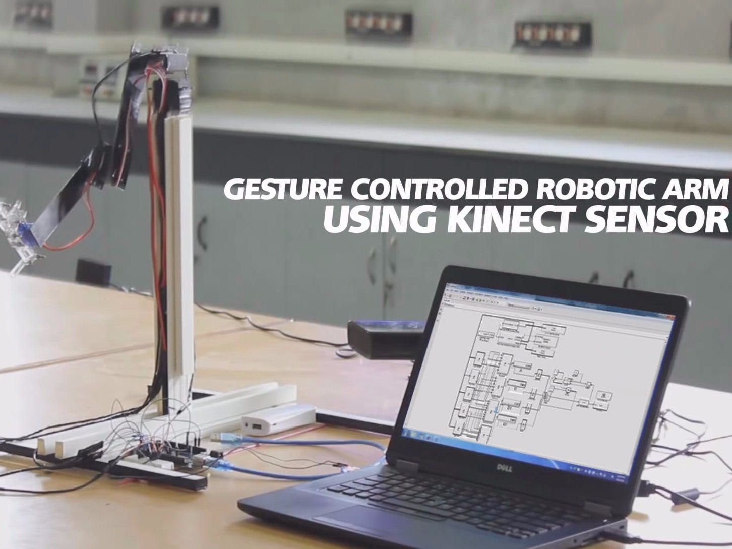 Gesture Controlled Robotic Arm Using Kinect & Arduino