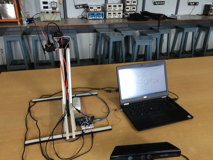 Gesture controlled robotic arm using kinect arduino