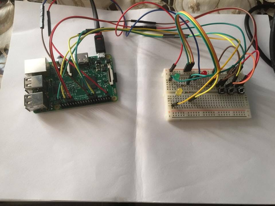 Raspberry Pi3 Bus Simulation Circuit
