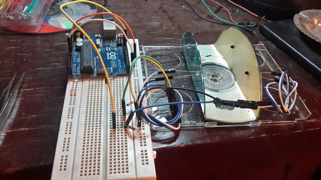 First prototype using Arduino