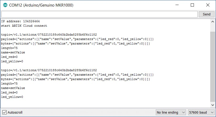 Serial Monitor logs
