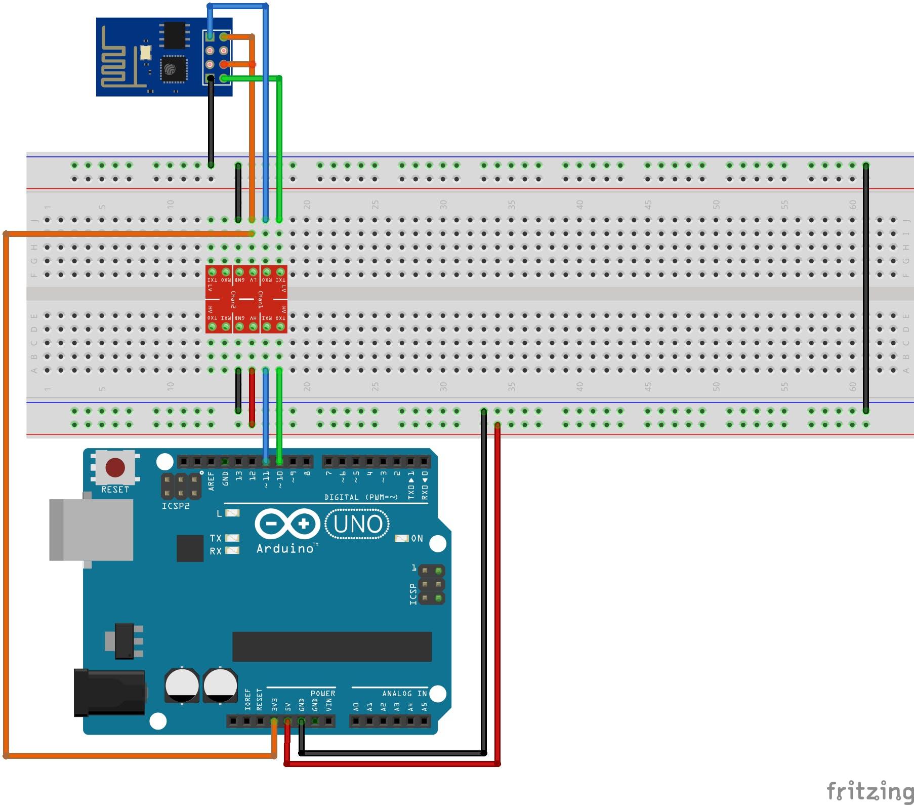ESP Arduino Uno wiring