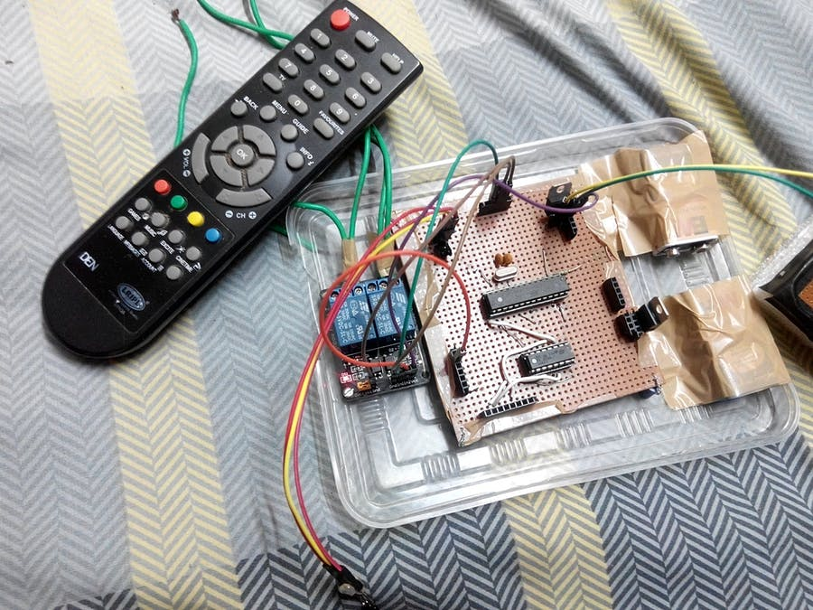 TV remote controlled Light and Fan - Hackster io