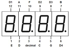pin out for seven segment display