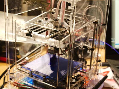 Mini 3D Printer From HobbyKing Running with CRAMPS Board