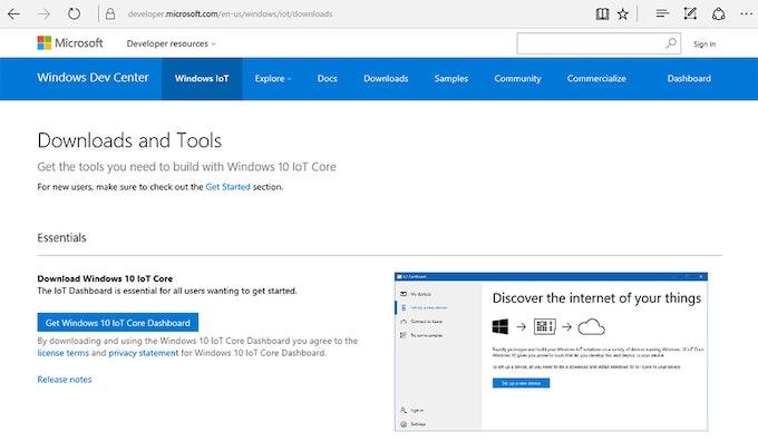 Ventanas de la IO núcleo central del tablero de instrumentos de descarga (Microsoft)