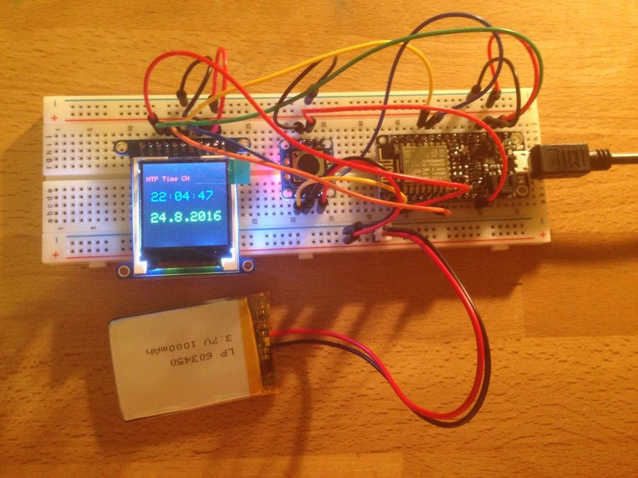 Arduino Network Time Clock - Hackster io