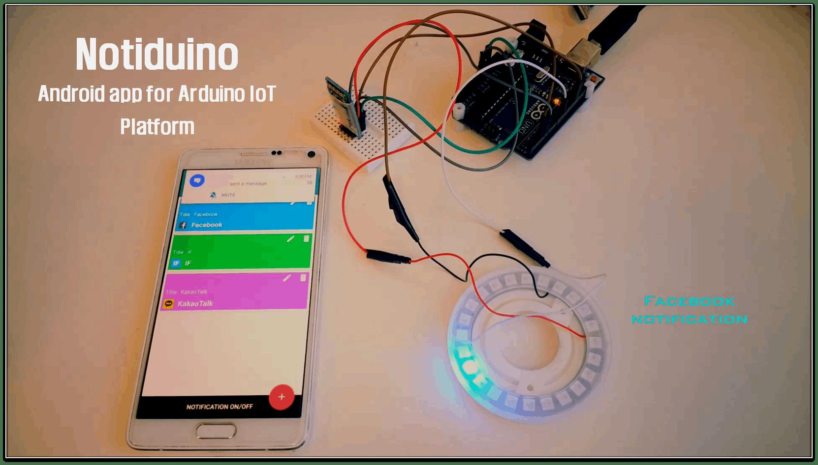Notification IoT Using NeoPixel and Smartphone