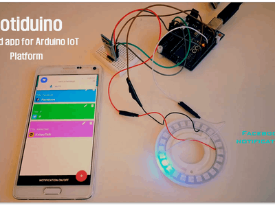 Notification IoT Using NeoPixel and Smartphone