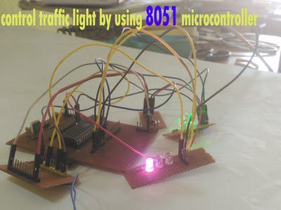 How To Control Traffic by Using 8051 Microcontroller