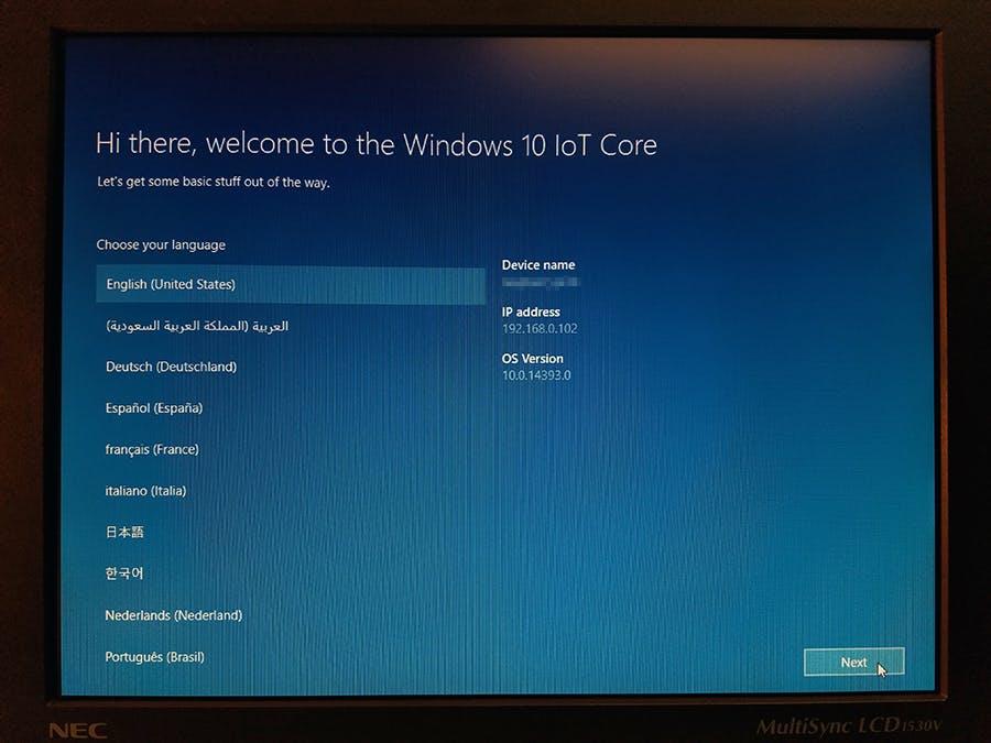 New choose language setting windows