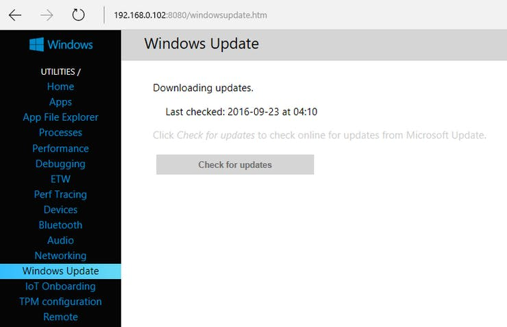 Check for updates. Downloading updates