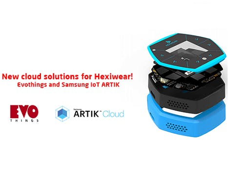 Publish Hexiwear sensor data onto ARTIK with Evothings