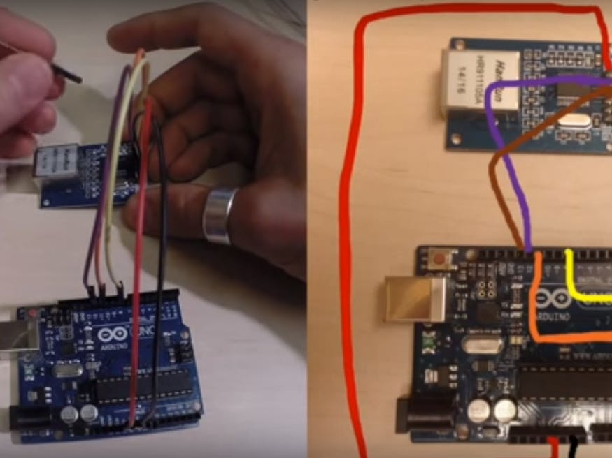 How to Connect the ENC28J60 to an Arduino