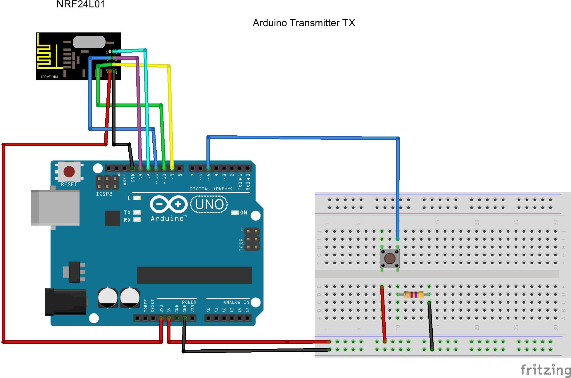 Nrf24l01 Arduino Wiring Diagram - Circuit Connection Diagram •
