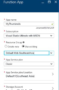 Create Azure Function App