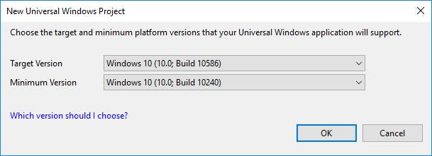 UWP build version