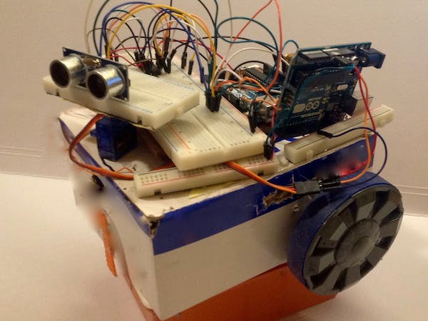Obstacle avoiding robot arduino project hub