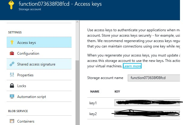 Storage Access Keys