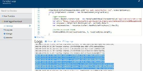 Azure Function App Log
