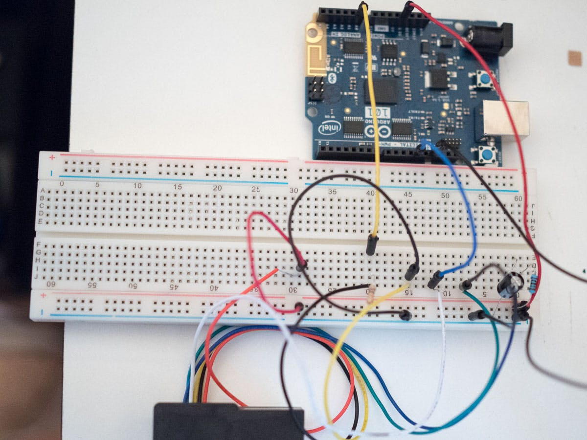 All wired up to breadboard