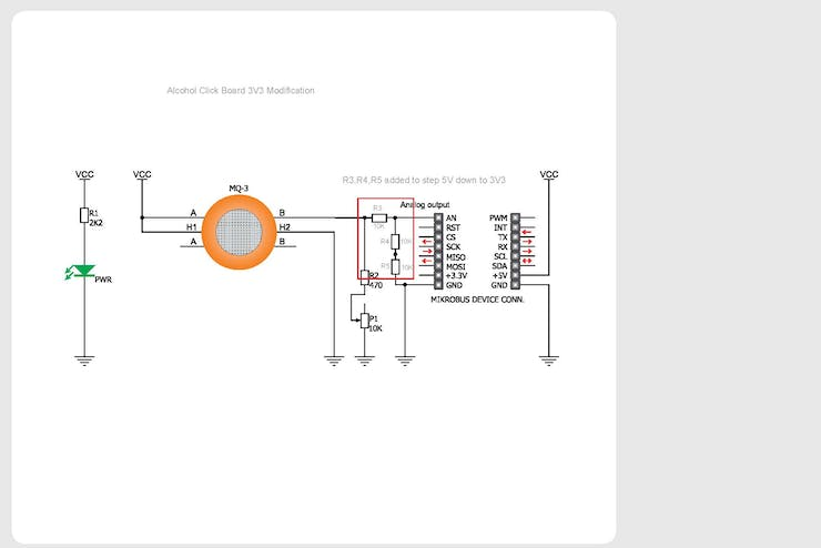 Modified Alcohol Click Schematics with 3V3 output