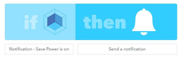 IFTTT recepe to trigger a notification when ARTIK device is set to ON.