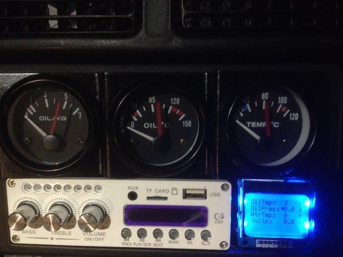 Standard gauges in parallel with arduino