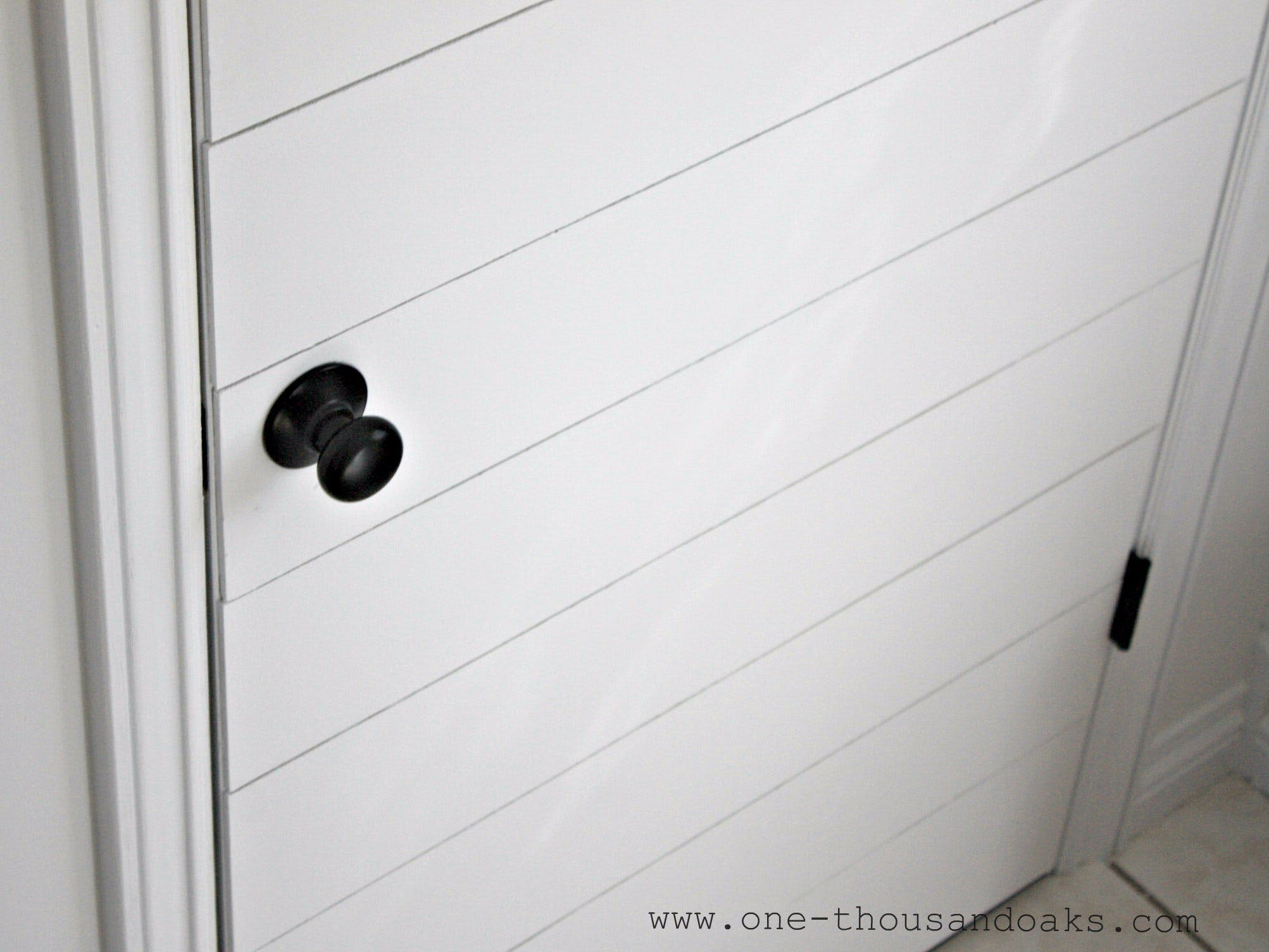 How to build a Shiplap door