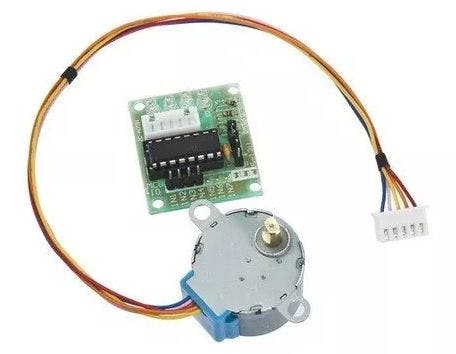 Stepper motor with ULN2003