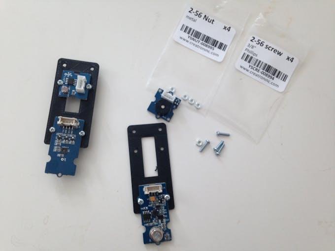 Add the sensors to the sensor holder
